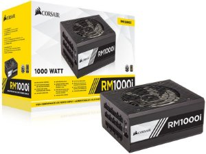 Fonte ATX 1000 Watts Potência Real C/ PFC Ativo MODULAR CORSAIR RM1000i CP-9020084-WW - 80 PLUS GOLD