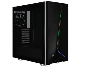 Gabinete ATX GAMER CORSAIR CARBIDE SPEC-06 RGB BLACK C/ Tampa Lateral em Vidro e USB 3.0 Frontal -  CC-9011146-WW