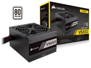 Fonte ATX 650 Watts Reais C/ PFC Ativo Corsair VS650 80% Plus White CP-9020172-WW