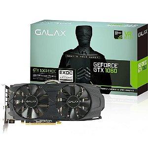Placa de Vídeo GPU Geforce GTX 1060 EXOC 6GB GDDR5 192 Bits GALAX - 60NRH7DVM6EC