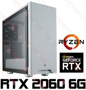 (Recomendado) PC Gamer AMD Ryzen 7 2700, 16GB DDR4, SSD 128GB, HD 1 Tera, GPU GEFORCE RTX 2060 OC 6GB