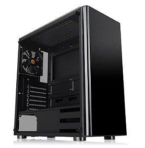 Gabinete ATX Gamer Thermaltake V200 Black C/ Tampa Lateral em Vidro e USB 3.0 - CA-1K8-00M1WN-00