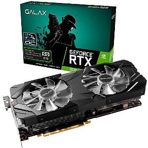 Placa de Vídeo GPU GEFORCE RTX 2080 EX 1CLICK OC  8GB GDDR6 256 BITS GALAX 28NSL6UCU9EN