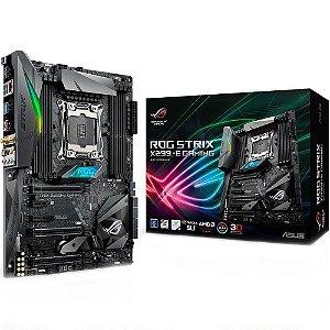 Placa-Mãe ASUS p/ Intel LGA 2066 ATX ROG STRIX X299-E GAMING, DDR4, SLI/CrossFireX, GameFirst IV, Bluetooth, SupremeFX com 8 canais, Wi-Fi