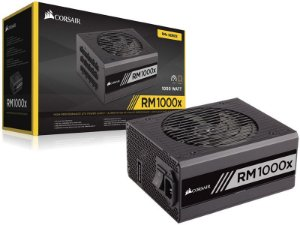 Fonte ATX 1000 Watts Potência Real, FULL  Modular C/ PFC Atívo CORSAIR RM1000X - 80% Plus GOLD CP-9020094-WW