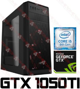 (Recomendado) PC Gamer Intel Core I5 Coffee Lake 8400, 8GB DDR4, SSHD 1 TERA, GPU GEFORCE GTX 1050TI OC 4GB
