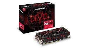 Placa de Vídeo AMD Radeon RX 580 OC 8GB GDDR5 - 256 Bits POWER COLOR DEVIL - AXRX580 8GBD5-3DH/OC
