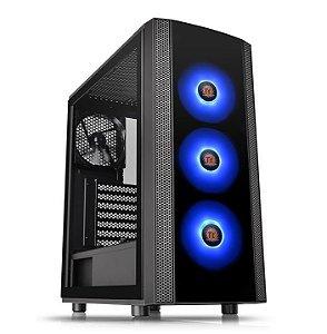 Gabinete ATX Gamer Thermaltake VERSA J25 RGB, Lateral em Vidro Temperado e USB 3.0 Frontal - CA-1L8-00M1WN-01