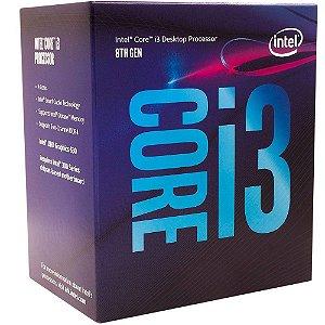 Processador Intel Core i3-8100 Coffee Lake, Cache 6MB, 3.6 GHz, LGA 1151 - BX80684I38100
