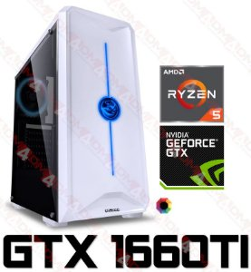 (SUPER RECOMENDADO) PC Gamer AMD Ryzen 5 2600, 16GB DDR4, SSHD 1 Tera, GPU GEFORCE GTX 1660TI OC 6GB
