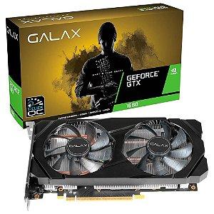 Placa de Vídeo Geforce GTX 1660 OC 1-CLICK 6GB GDDR5 - 192 Bits GALAX 60SRH7DSY91C