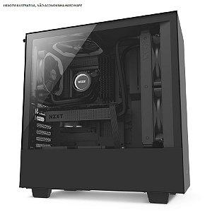 Gabinete ATX Gamer C/ Lateral em Vidro Temperado e USB 3.0 Frontal NZXT H500 MATTE BLACK - CA-H500B-B1