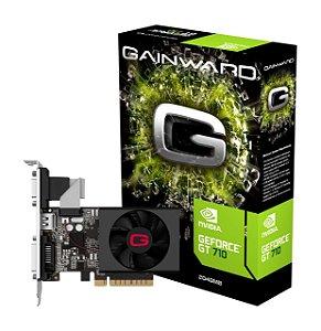Placa de Vídeo GPU Geforce GT 710 2GB DDR3 - 64 Bits GAINWARD NEAT7100HD46-2080H