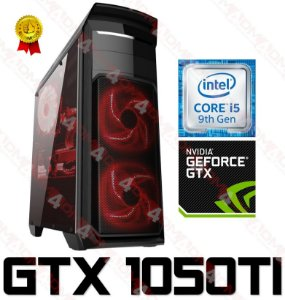 (Recomendado) PC Gamer Intel Core I5 Coffee Lake 9400F, 16GB DDR4, SSD 480GB, HD 1 Tera, GPU GEFORCE GTX 1050TI OC 4GB