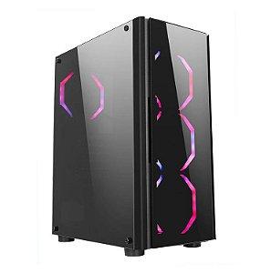 Gabinete ATX Gamer LIKETEC STREAMER RGB C/ Frente e Tampa Lateral em Vidro e USB 3.0 Frontal