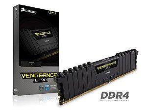 Memória P/ Desktop 16GB DDR4 CL16 2666 MHZ Corsair VENGEANCE LPX - CMK16GX4M1A2666C16 (1X16GB)
