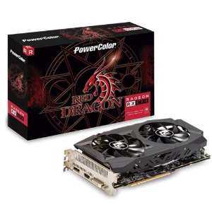 Placa de Vídeo AMD Radeon RX 590 OC 8GB GDDR5 256 Bits Power Color AXRX 590 8GBD5-DHD