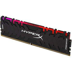 Memória 16GB DDR4 CL16 3200 Mhz KINGSTON HYPERX PREDATOR RGB - HX432C16PB3A/16 (1X16GB)