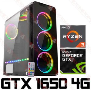 PC Gamer AMD Ryzen 3 2200G, 8GB DDR4, HD 1 Tera, GPU GEFORCE GTX 1650 OC 4GB