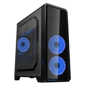 Gabinete Micro ATX Gamer GAMEMAX ECO G561 PLUS C/ Acrílico Lateral, USB 3.0 e 3 Cooler LED AZUL