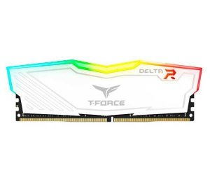 Memória 16GB DDR4 CL15 2666 Mhz TEAM FORCE DELTA RGB WHITE - TF4D416G2666HC15B01 (1X16GB)