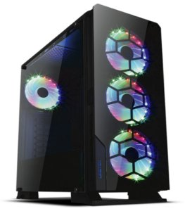 Gabinete ATX GAMER Lateral em Vidro, USB 3.0 Frontal, 3 Coolers RGB - LIKETEC DIAMOND