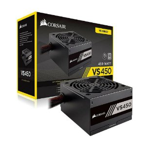 Fonte ATX 450 Watts Reais C/ PFC Ativo Corsair VS450 80% Plus White CP-9020170-WW