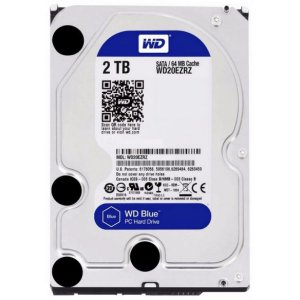 HD Interno P/ Desktop 2 Teras Sata 6Gbs 5400 Rpm 64MB Cache - Western Digital Blue WD20EZRZ