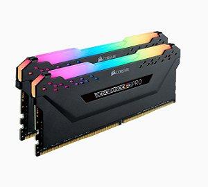 Memória 16GB DDR4 CL18 - 3600 Mhz Corsair Vengeance PRO RGB (2X8GB) BLACK - CMW16GX4M2C3600C18