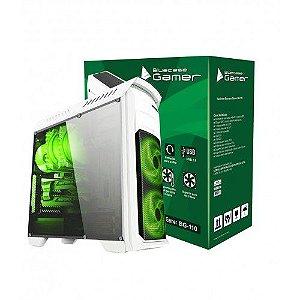 Gabinete Bluecase Gamer BG-110 C/ Tampa Lateral de Acrílico e USB 3.0 Frontal e LED Personalizavel sem Fonte