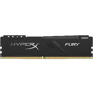 Memória P/ Desktop 8gb DDR4 - 2666 Mhz Kingston HyperX Fury Black HX426C16FB3/8 (1X8gb)