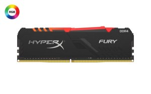 Memória P/ Desktop 8gb DDR4 - 3200 Mhz Kingston HyperX Fury RGB Black HX432C16FB3A/8 (1X8gb)