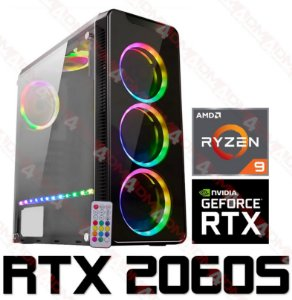 PC Gamer AMD Ryzen 9 3900X, 16GB DDR4, SSD PCI-E 512GB, GPU GEFORCE RTX 2060 SUPER 6GB