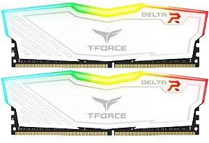 Memória 32GB DDR4 CL16 3000 Mhz TEAM FORCE DELTA RGB WHITE - TF4D432G3000HC16CDC01 (2X16GB)