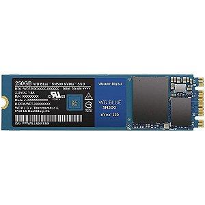 SSD Western Digital Blue SN500, 250GB, M.2 NVMe, Leitura 1700MB/s, Gravação 1300MB/s - WDS250G1B0C
