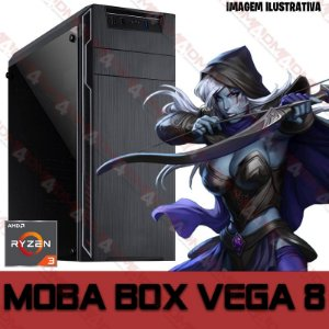 PC Gamer MOBA BOX AMD Ryzen 3 2200G, 16GB DDR4, SSD 480GB, Wi-Fi, APU RADEON VEGA 8