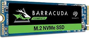 SSD M.2 NVME 512GB PCI-E SEAGATE BARRACUDA, Leitura 3400MB/s, Gravação 2100MB/s - ZP512CM30041