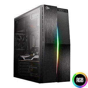 Gabinete Micro ATX Gamer KWG Vela M2 RGB C/ Tampa Lateral em Acrílico e USB 3.0 Frontal