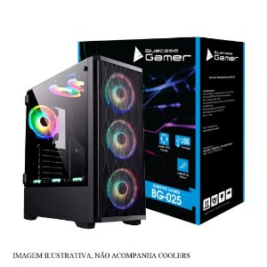 Gabinete ATX Gamer C/ Tampa Lateral em Vidro, USB 3.0 Frontal, Sem Fonte, Personalizável - BlueCase BG-025