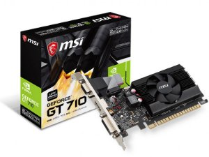 Placa de Vídeo GPU Nvidia Geforce GT 710 2GB DDR3 - 64 BITS MSI 912-V809-2024