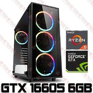 (SUPER RECOMENDADO) PC Gamer AMD Ryzen 5 3600X, 16GB DDR4, SSD NVME 256GB, HD 1TB, GPU GEFORCE GTX 1660 SUPER 6GB
