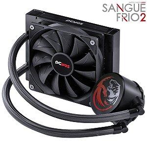 WATER COOLER SANGUE FRIO 2 - 120MM (INTEL/AMD) E COMPATÍVEL COM TR4 - MANGUEIRAS DE NYLON - TDP 200W - PSF2120H33PTSL