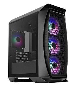 Gabinete Micro ATX Gamer AEROCOOL ONE MINI FROST BLACK RGB