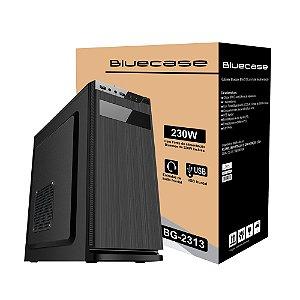 Gabinete Micro ATX Home Office C/ Fonte 230W Bivolt - Bluecase BG-2313 Black