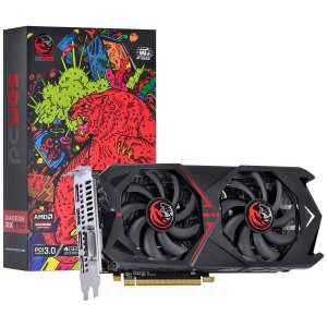 Placa de Vídeo AMD Radeon RX 570 4GB GDDR5 - 256 BITS PCYES DUAL-FAN GRAFFITI SERIES - PJ570RX256GD5