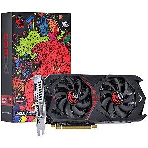 Placa de Vídeo AMD Radeon RX 570 4GB GDDR5 - 256 BITS PCYES DUAL-FAN GRAFFITI SERIES - PJ570RX256GD5