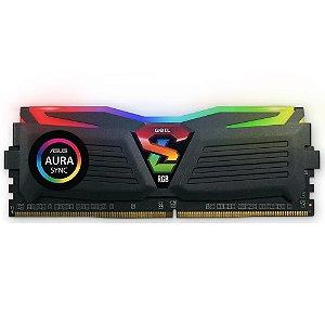 Memória Ram P/ Desktop 8GB DDR4 CL16 3000 Mhz GEIL SUPER LUCE RGB (TUF GAMING) - CLTS48GB3000C16ASC (1X8GB)