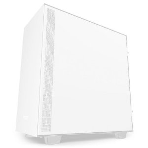 Gabinete Gamer NZXT H510, Mid Tower, com FAN, Lateral em Vidro, White - CA-H510B-W1
