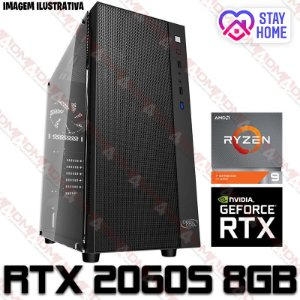 PC Gamer AMD Ryzen 9 3900X, 16GB DDR4, SSD 512GB, GPU GEFORCE RTX 2060 SUPER 8GB