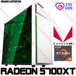 PC Gamer AMD Ryzen 5 2600, 16GB DDR4, HD 1 Tera, GPU AMD RADEON RX 5700XT 8GB